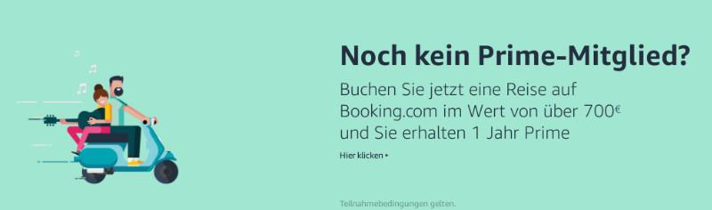 Reise / Unterkunft für 700 Euro oder mehr bei Booking.com buchen und 1 Jahr Amazon Prime gratis