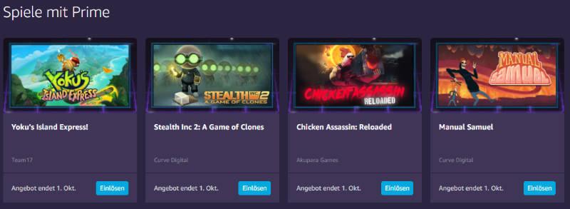 Twitch Prime in Amazon Prime enthalten - Kostenlos Spiele für den PC - September 2019
