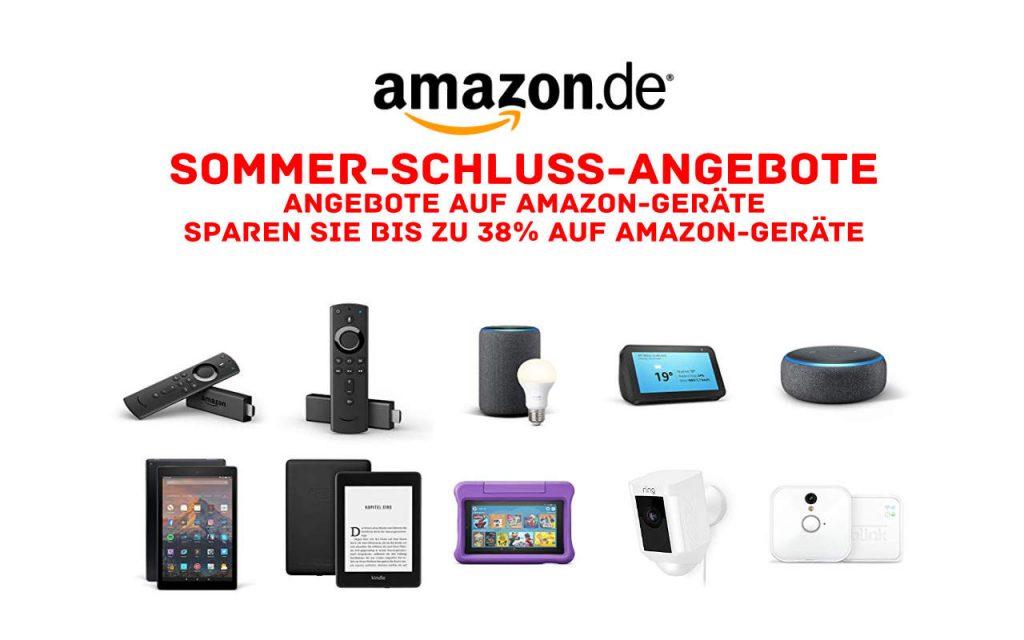 Sommer-Schluss-Angebote - Fire TV Stick (4K), Echo, Kindle eReader, Fire Tablets und mehr reduziert