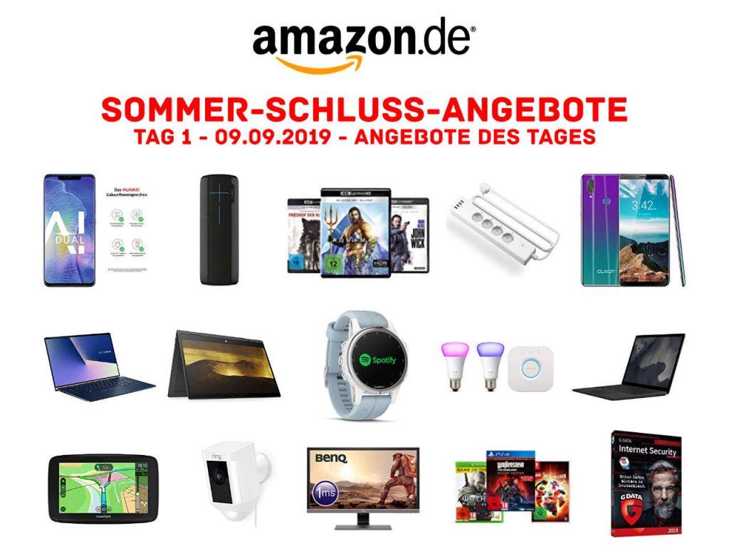 Sommerschlussverkauf bei Amazon - Sommer-Schluss-Angebote 2019 - Tag 1