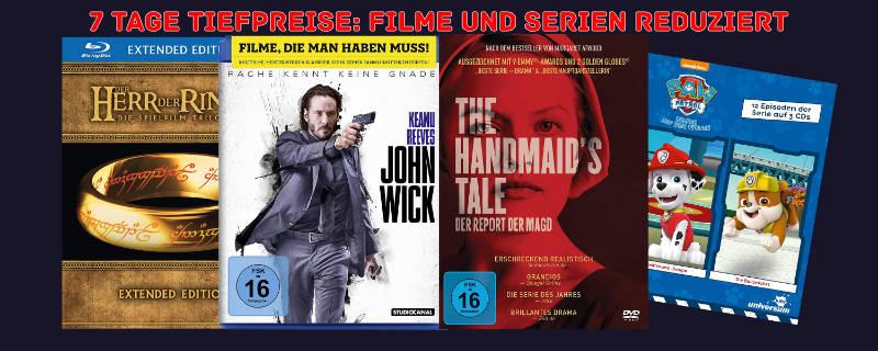 7 Tage Tiefpreise - reduzierte Filme und Serien auf DVD und Blu-ray (ach 4K UHD und 3D)