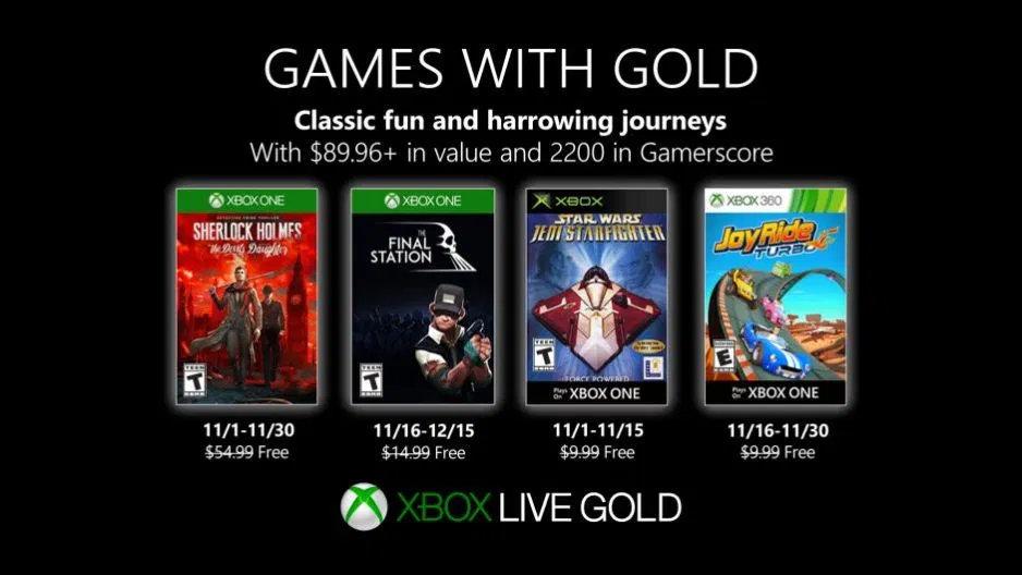 Monatlich kostenlose Spiele mit Xbox Live Gold und Xbox Game Pass Ultimate - November 2019