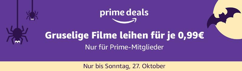 Über 700 Filme für je 99 Cent ausleihen - Prime Deals Halloween - Heimkino Schnäppchen