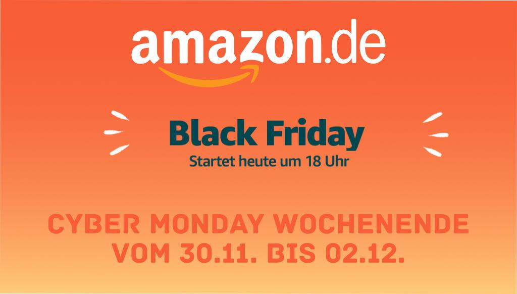 Black Friday - Amazon macht einen Frühstart am heutigen Donnerstag ab 18 Uhr (28.11.)