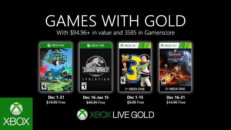 Monatlich kostenlose Spiele mit Xbox Live Gold und Xbox Game Pass Ultimate - Dezember 2019
