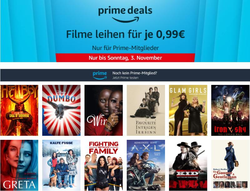 Prime Deals - 12 Filme für je 99 Cent leihen