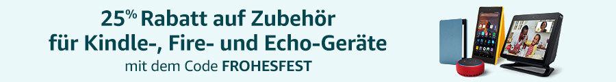 Amazon Gutschein - FROHESFEST- 25% Rabatt auf Zubehör für Amazon Geräte wie Fire TV, Echo oder Kindle