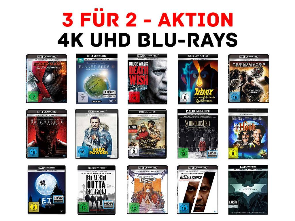 4K UHD Blu-rays fürs Heimkino günstiger - über 250 Titel - 3 für 2