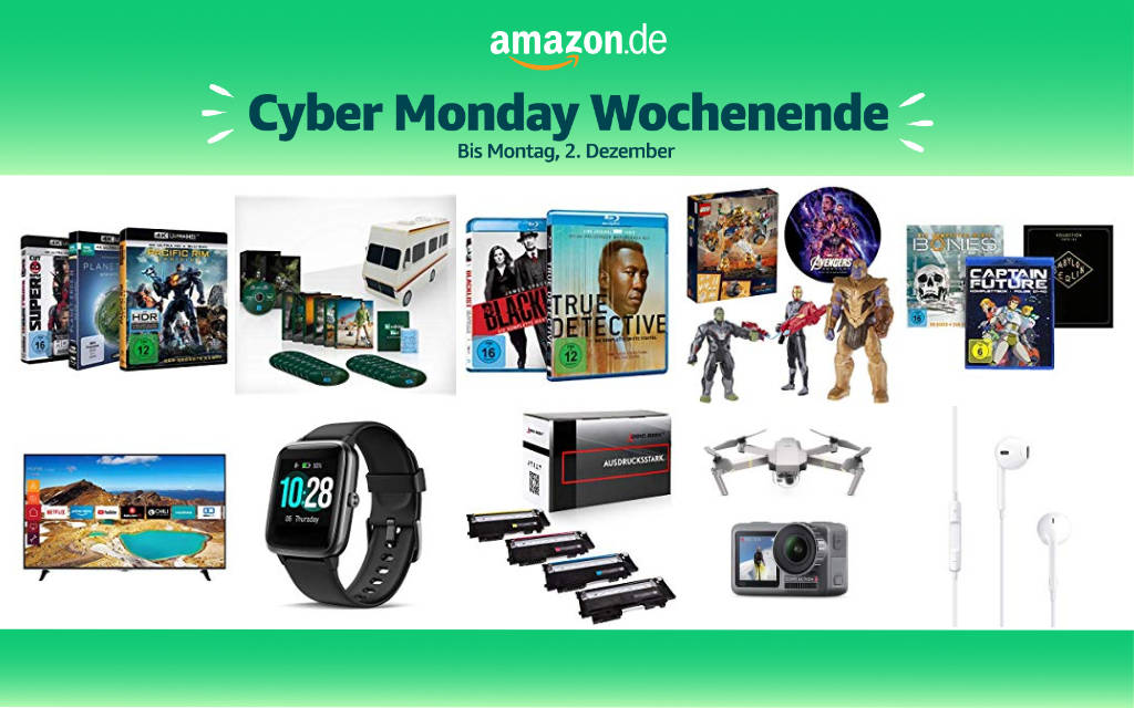 Cyber Monday Wochenende 2019 - Schnäppchen und Deals - Tag 2 - 01. Dezember