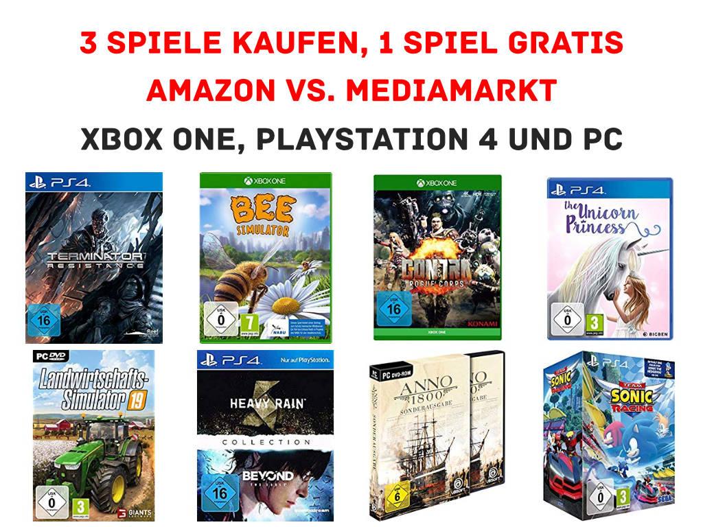 amazon.de - Drei kaufen und nur zwei zahlen - Spiele / Games für Konsolen und PC