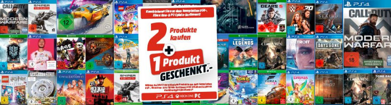 Drei kaufen und nur zwei zahlen - Spiele / Games für Konsolen und PC