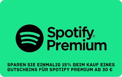 Spotify Premium günstiger - 15% Rabatt bei Amazon