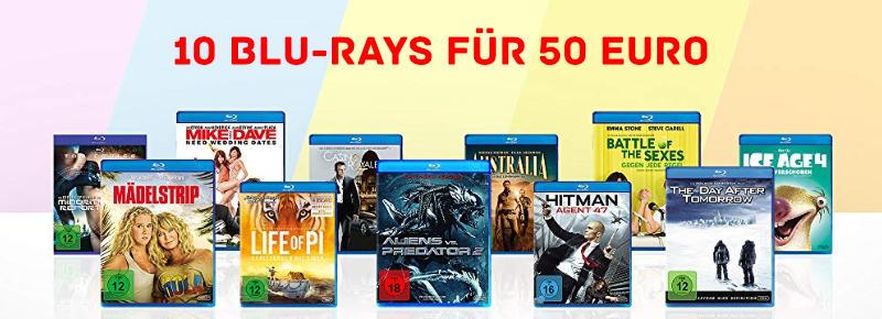 10 Blu-rays für 50 Euro - Januar 2020