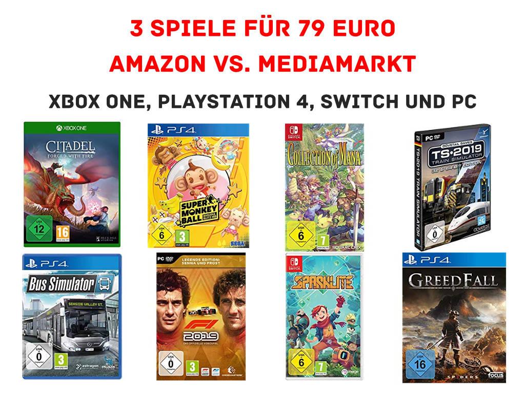 3 Games für 79 Euro - amazon.de kontert MediaMarkt