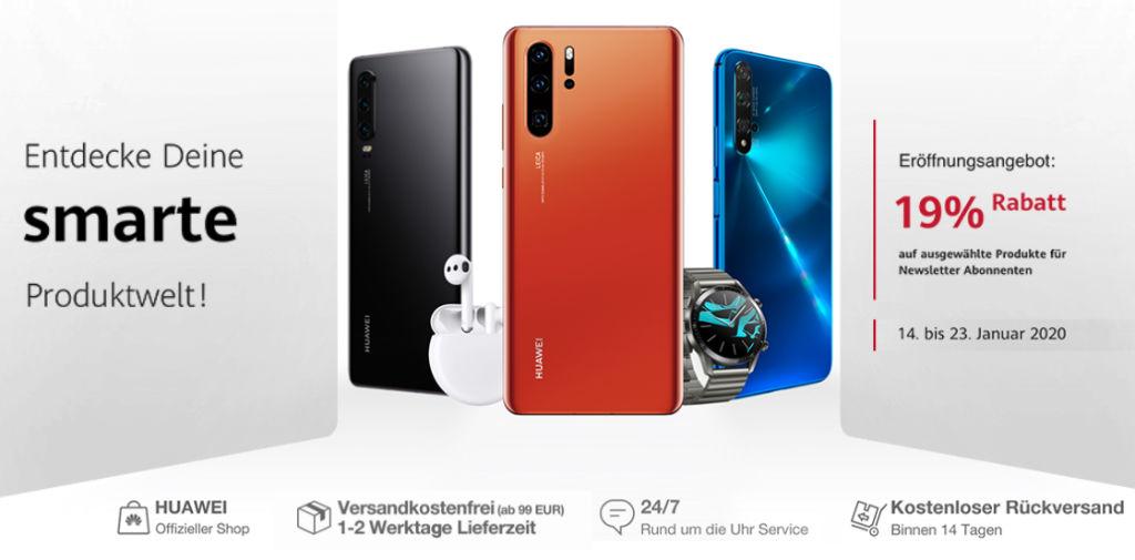 Huawei - 19% Rabatt auf viele Smartphones und mehr