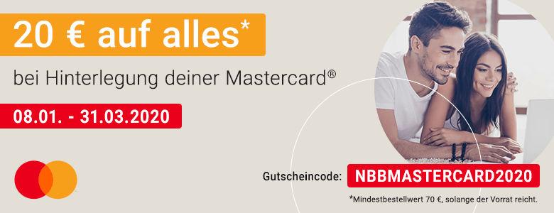 Mastercard Aktion - 20 Euro Gutschein für Notebooksbilliger.de - NBB - ab 70 Euro MBW