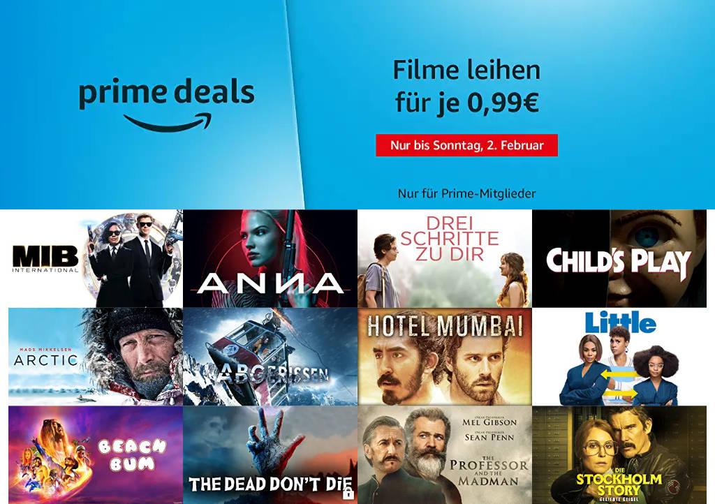 Prime Deals - 13 Filme für je 99 Cent leihen - Januar/Februar 2020