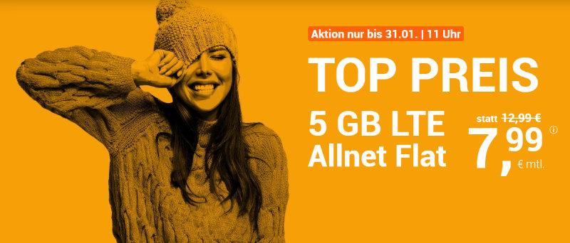 WinSim - günstige Allnet-Flat mit Telefonie, SMS, 5 GB Datenvolumen LTE inkl. EU Roaming