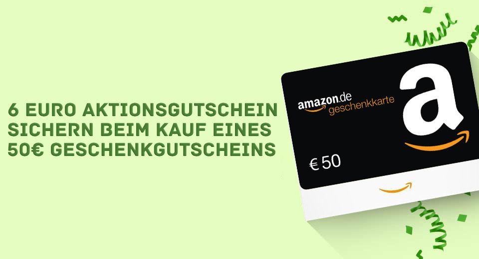 Sechs Euro Amazon Gutschein Januar 2021
