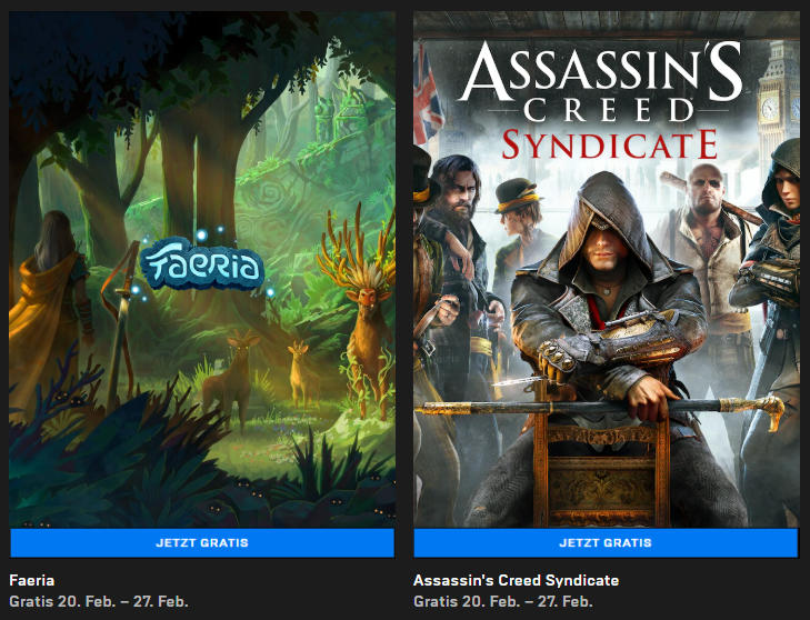 Assassin's Creed Syndicate (Windows-PC) und Faeria (Windows/Mac) kostenlos