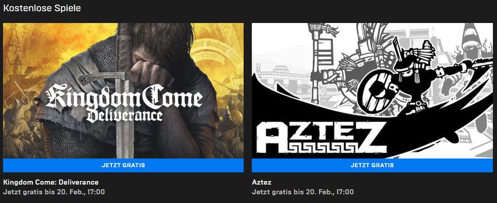 Kingdom Come: Deliverance (Windows-PC) und Aztez (Windows/Mac)