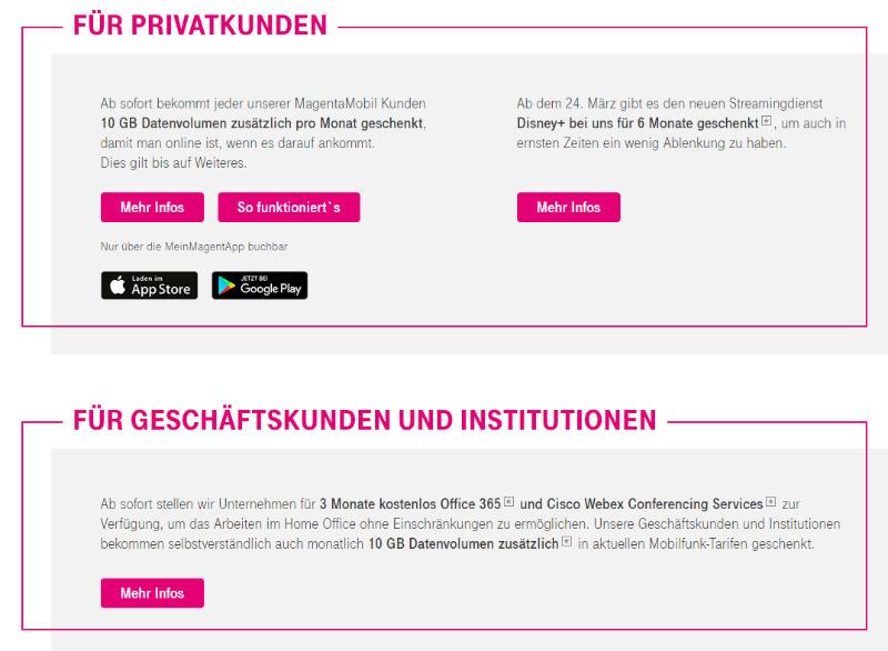 Monatlich 10 GB Datenvolumen geschenkt - Telekom Mobilfunkkunden - Privat und Business
