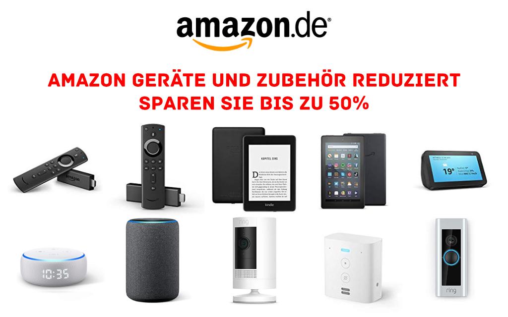 Fire TV Stick (4K), Echo, Echo Dot (mit Uhr), Echo Show 5, Kindle Paperwhite, Ring, Blink und mehr reduziert