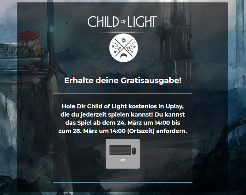 Child of Light - Vollversion gratis - PC-Spiele