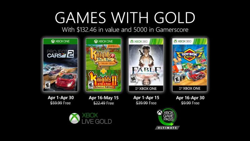 Monatlich kostenlose Spiele mit Xbox Live Gold und Xbox Game Pass Ultimate - April 2020
