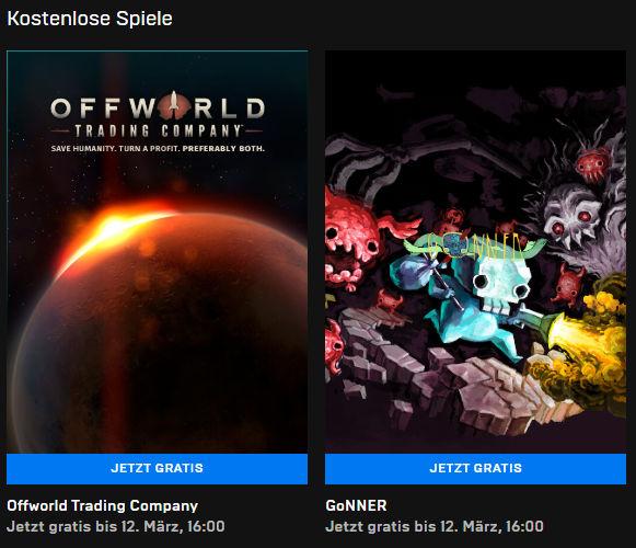 Offworld Trading Company und GoNNER (Windows-PC) kostenlos