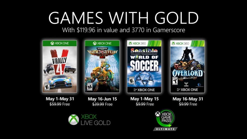 Monatlich kostenlose Spiele mit Xbox Live Gold und Xbox Game Pass Ultimate - Mai 2020