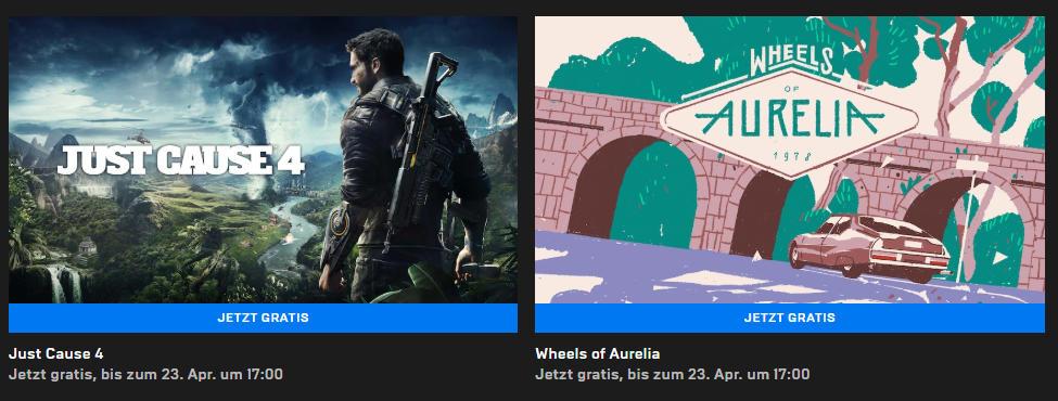 Kostenlose PC-Games - Just Cause 4 (Win) und Wheels of Aurelia (Win/Mac)