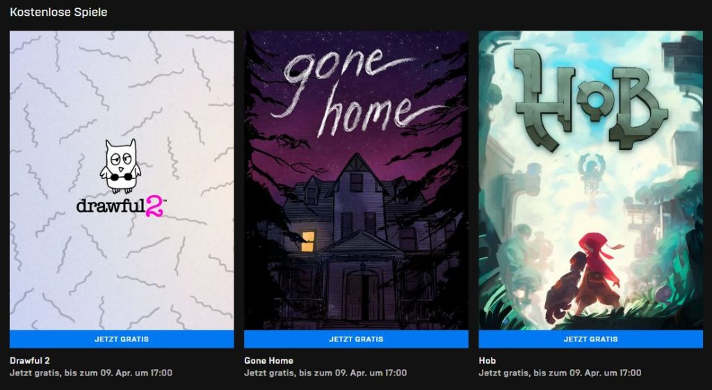 Kostenlose PC-Games - Gone Home, Hob, Drawful 2 gratis