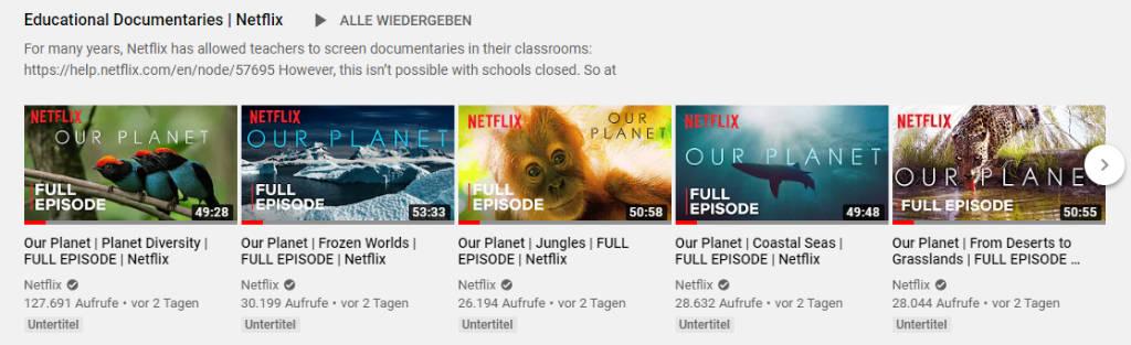 Netflix Dokus kostenlos ohne Abo bei YouTube
