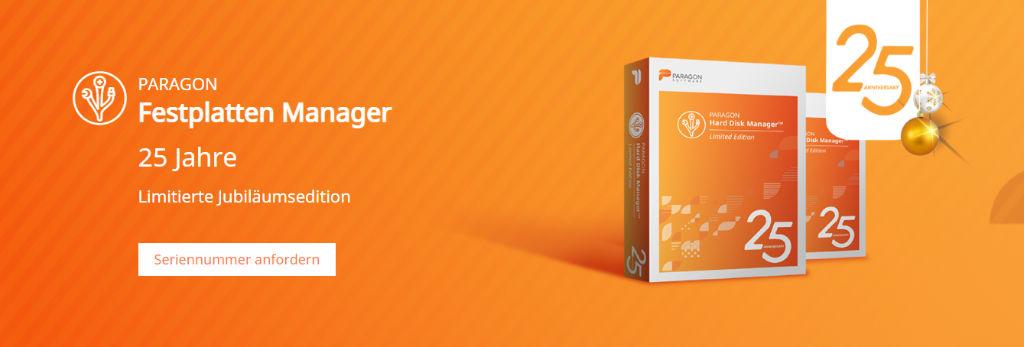 Paragon Software - Festplatten sichern - Partitionen erstellen, Festplatte sicher löschen, Sichern und Wiederherstellen von Daten