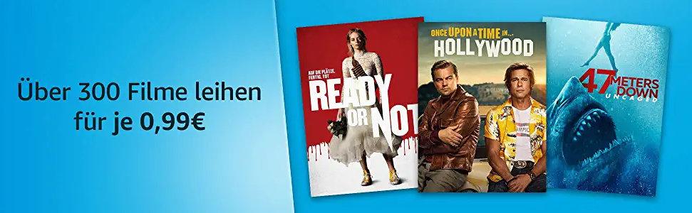 Über 300 Filme für je 99 Cent ausleihen - Prime Deals Popcorn Woche - Heimkino Schnäppchen