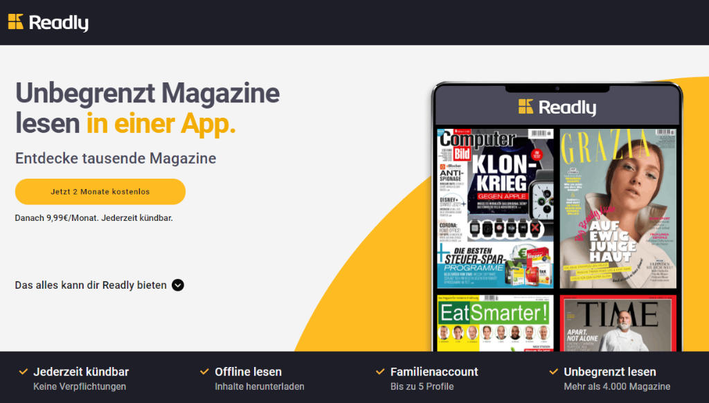 Magazine und Zeitschriften online lesen - Android, iOS, Browser