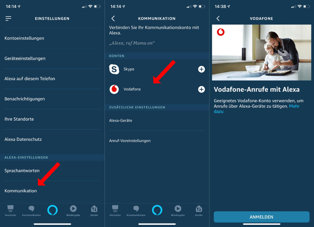 Vodafone - Telefonieren mit Alexa über Mobilfunknummer