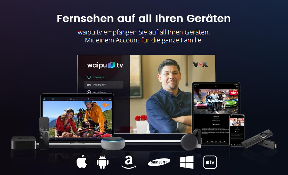 waipu.tv - 33% Rabatt auf Guthaben bei Amazon
