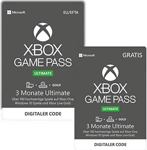 Xbox Game Pass Ultimate - Konsolen, PC, und Xbox Live Gold - 3 Monate kaufen, 3 Monate geschenkt