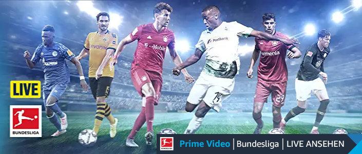 Amazon zeigt bei Prime Video insgesamt 11 Spiele der Fußball-Bundesliga Live