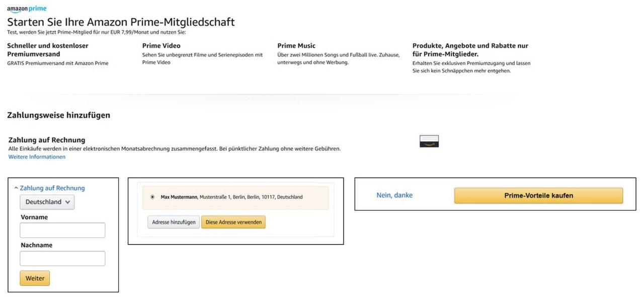 Amazon Monatsrechnung - Anfang des Monats die Rechnung für den Vormonat erhalten - auch für Amazon Prime Mitgliedschaft