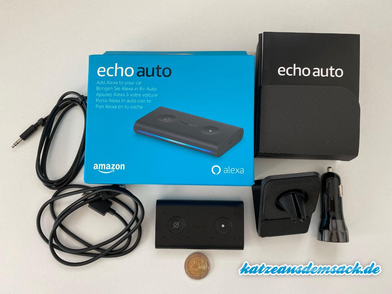 Amazon Echo Auto - Lieferumfang, Größe, Zubehör im Test