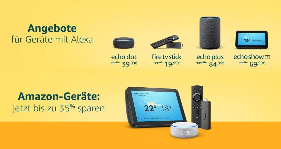 Amazon Produkte bis zu 35% Rabatt für Fire TV, Echo mit Alexa, Fire Tablets und Co.