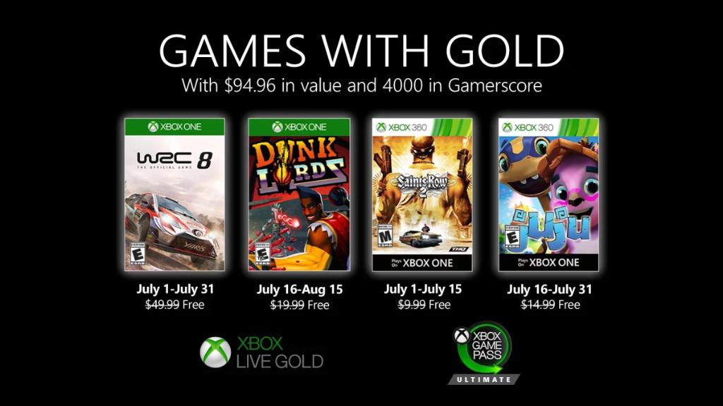 Monatlich kostenlose Spiele mit Xbox Live Gold und Xbox Game Pass Ultimate - Juli 2020