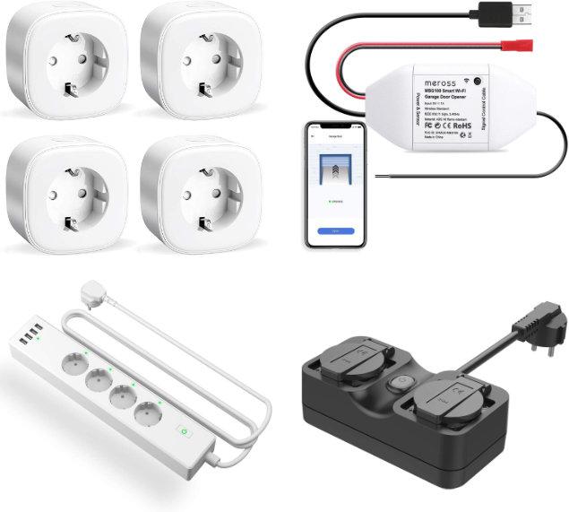Günstige Smart Home Komponenten für Alexa und Co - Steckdosen, Mehrfachsteckdosen und Garagentorsteuerung