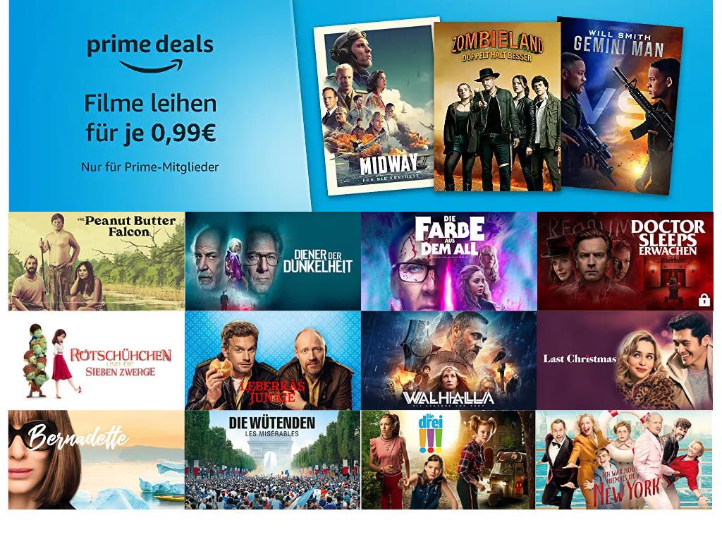 Prime Deals - 30 Filme für je 99 Cent leihen - Juni 2020