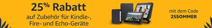 Amazon Gutschein August 2020- 25SOMMER - 25% Rabatt auf Zubehör für Amazon Geräte wie Fire TV, Echo oder Kindle Paperwhite