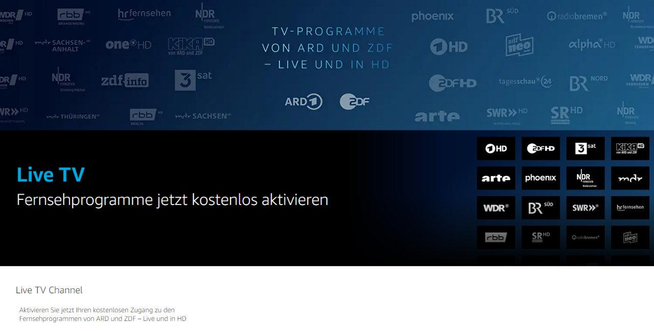 Live TV mit Prime Video - Prime Mitglieder sehen Öffentlich-rechtliche Sender ohne zusätzliche Kosten über Prime Video-App und Fire TV