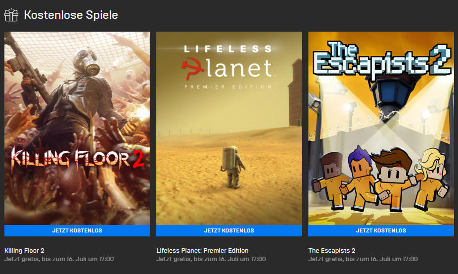 Epic Games Store: The Escapists 2, Lifeless Planet und Killing Floor 2 kostenlos für Euren PC